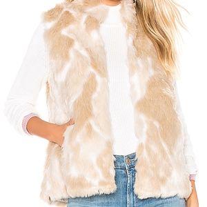 JACK by BB Dakota Faux Fur What Ivory Vest